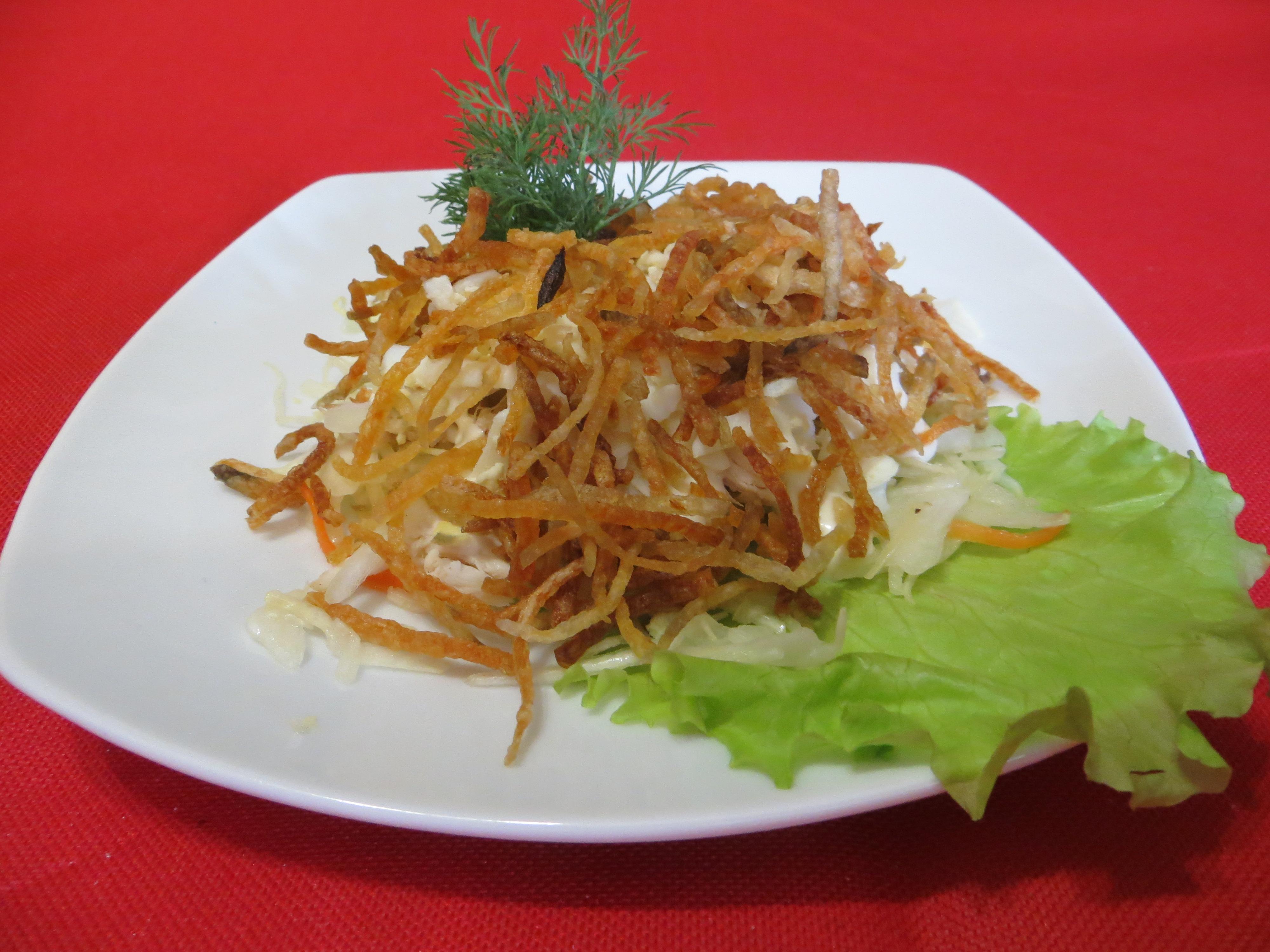 Салат гнездо глухаря рецепт с капустой
